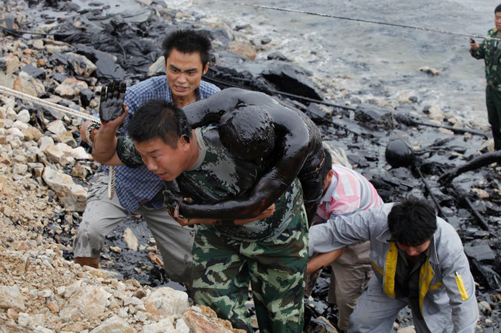 Eventi Arte Venezia, Jiang He, Oil Spill in China 1