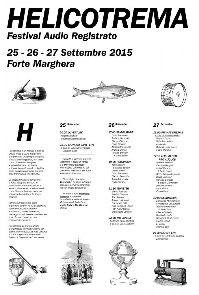 Helicotrema, programma festival
